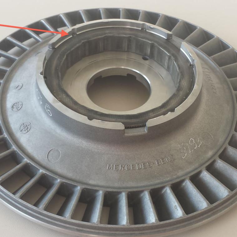 Gevonkte stator van een MB koppelomvormer